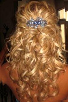 Half Up Half Down Curly Hairstyles Medium Length Hair