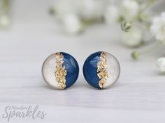 https://flic.kr/p/26KF2dc | Navy Blue resin earrings by Mountain Sparkles | www.etsy.com/shop/MountainSparklesArt www.etsy.com/shop/MountainPearls