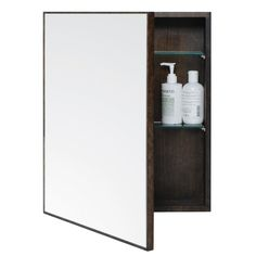 The Mezza is designed in the UK by Lincoln Rivers exclusively for Wireworks, an independent homewares company that started life nearly three decades ago in a small workshop off London's Edgware Road. Pairing sustainable oak with a sheet of reflective glass, this simple cabinet provide both a vanity mirror and concealed storage.