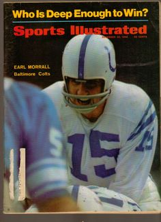 Sports Illustrated Magazine November 25 1968 Earl Morrall Baltimore Colts QB www.advintageplus.com