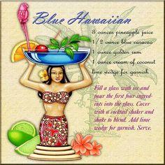 Blue Hawaiian Drink | http://foodanddrinkrecipecollections.blogspot.com