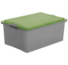 Stapelbox COMPACT A3, RENEW A3 grau/grün