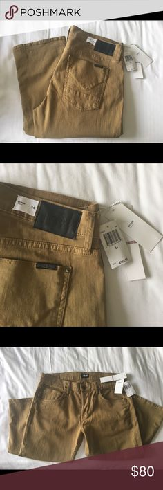 Hudson Jeans Byron straight 34x34 Hudson Jeans Byron straight fit tan/ khaki jeans. Full straight roomy fit. Hudson Jeans Jeans Straight