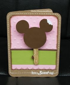 Mickey Ice Cream Card - Have a sweet day
