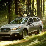 2015 Subaru Outback Through Forest
