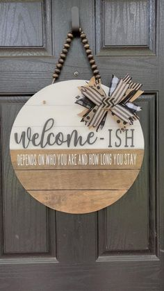 Wooden Door Signs, Diy Wood Signs, Homemade Wood Signs, Wooden Signs With Sayings, Painted Wooden Signs, Wood Signs For Home, Wooden Door Hangers, Home Decor Signs, Pallet Signs
