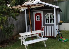 Timber Billie Cubby House, Beautifully decorated by customer.  www.hideandseekcubbies.com.au