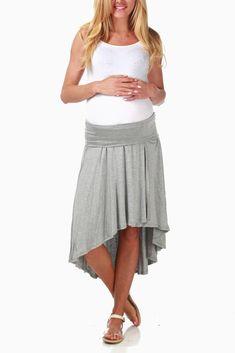 e8f40e63f84 Grey Hi-Low Maternity Skirt. Pregnancy WardrobeMy PregnancyPregnancy  OutfitsMaternity ...