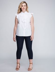 05e5944a93e Cute tops and blouses · Ruffle Front Shirt Fashion Deals