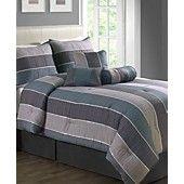 Essex 7 Piece California King Jacquard Comforter Set