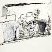 Erich Sokol At the Wheel, aus: American Natives, um 1958/59 Provenienz: Sammlung des Landes Niederösterreich Foto: Peter Böttcher © Erich Sokol Privatstiftung, Mödling