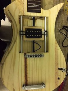 Great custom guitar project with cool electric circuitry and arduino inside. Arduino, Fender Telecaster, Piano, Guitar Crafts, Guitar Kits, Cigar Box Guitar, Learn To Play Guitar, Guitar Building, Cool Guitar