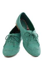 Just a Jiffy Flats in Mint | Mod Retro Vintage Flats | ModCloth.com