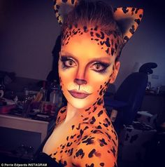 Halloween makeup tips: 'Cheet' Perrie Edwards' cheetah makeup Cheetah Makeup, Fox Makeup, Animal Makeup, Makeup Tips, Makeup Ideas, Glam Makeup, Halloween Juice, Cat Halloween Makeup, Leopard Halloween
