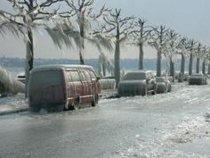 Freezing storm that hit Switzerland in 2005.