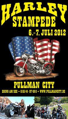 Erlebe das 2-tägige Harley-Event in der Westernstadt Pullman City in Eging am See im Bayrischen Wald. Genieße die tolle Stimmung vom 6.-7. Juli 2012 bei der Harley Stampede. $15
