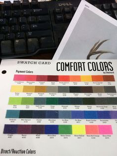 Comfort Colors Swatch Chart Greek Gear Tshirt Colors