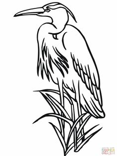 Heron coloring pages Cat Coloring Page, Coloring Pages, Free Coloring, Beach Clipart, Wood Images, Japanese Quilts, Southwest Art, Fabric Painting, Watercolor Painting