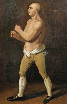 George Stevenson played an… Historical Art, Historical Clothing, Pictures Of Boxers, Boxing Tattoos, Bare Knuckle Boxing, Mendoza, Boxing History, History Timeline, American Sports