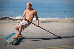 Hamboard lifestyle.  Saw this on shark tank.  Stand up paddle boarding on land!  Looks like fun to me!