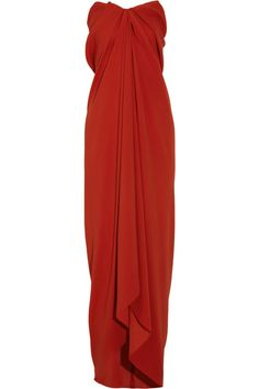 Lanvin Strapless silk-blend crepe gown
