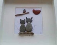 pebble art and driftwood - Bing images