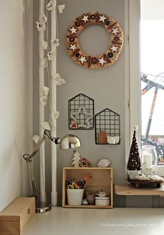 work space, home office, Christmas decorations