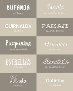 recursos molongos: 40 tipografías bonitas