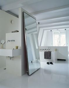 I like the rolling mirror/door idea