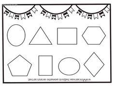 Shapes Worksheet Kindergarten, Shapes Worksheets, Divisibility Rules, Preschool, Math, Kids, Geometric Fashion, Preschool Education, Shapes