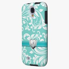 Awesome! This Aqua Blue and White Damask Pattern with Monogram is completely customizable and ready to be personalized or purchased as is. It's a perfect gift for you or your friends.