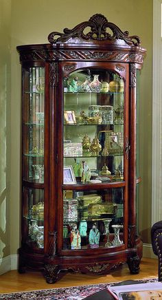 I love this!! Want one for my living room or den. - Curio traditional elegant antique furniture dining display