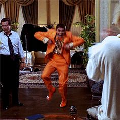 """Dumb and Dumber GIF  """"The Tuxedo Dance"""" Unforgettable."""