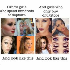 60 Beauty Memes That Will Make You LOL: Few things have the ability to brighten our day like a solid meme. Makeup Humor, Makeup Quotes, Funny Quotes, Funny Memes, Hilarious, Fat Memes, Qoutes, Silly Memes, Girl Problems