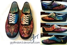 hand+painted+disney+shoes | Disney Mania / Tangled Inspired Shoes Hand Painted US Women's 8 by ...
