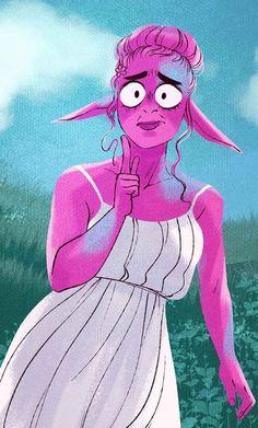 Lore Olympus, Nymph, Webtoon, Disney Characters, Fictional Characters, Comics, Disney Princess, Flower, Art