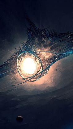 cool Fond d'écran science fiction hd - 422 Check more at…: Space Fantasy, Fantasy Concept Art, Sci Fi Fantasy, Fantasy World, Interstellar, Science Fiction Kunst, Sci Fi City, Futuristic City, Fantasy Places