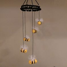 Bumble Bee Baby Mobile Bumble Bee Nursery Decor by DesignedbyAbble