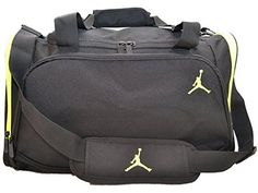 Nike Air Jordan Black And Green Duffel Gym Bag