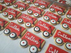 Party Gifts?? Red Wagon Cookies by Sugar Beez, via Flickr