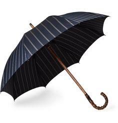 Striped Bamboo-Handle Umbrella    MR PORTER Francesco Maglia $460