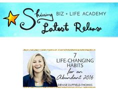 NEW COURSE RELEASE: 7 LIFE-CHANGING HABITS FOR AN ABUNDANT 2016