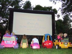 Backyard drive in theater...