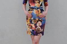 Be Chic Fashion dress spring - summer season 2016, beautiful mixing colors and flower prints