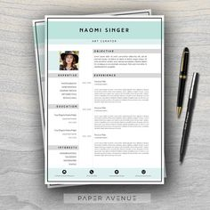 Unique Resume Templates Delectable Check Out Pastel Resume Cover Letter Template 2018