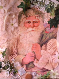 Father Christmas.....~ shabby n chic christmas decoration decor inspiration