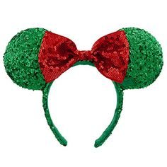 Disney Minnie Mouse Christmas Headband Ears Sequins Bow Green Red Theme Parks Disney http://www.amazon.com/dp/B016AVY256/ref=cm_sw_r_pi_dp_TIC1wb0QY8X4B