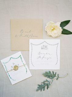 Rustic nature wedding invitation: http://www.stylemepretty.com/2016/09/21/telluride-colorado-wedding/ Photography: Heather Payne - http://www.heatherpaynephotography.com/