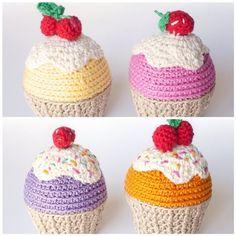 flamingpot crochet cupcakes