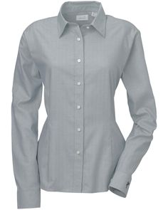 Ladies Woven shirt | Buy cheap ladies ez-tech performance herringbone woven in variety of colors and from S to 2XL sizes at Gotapparel.com
